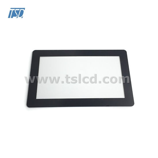 capacitive touch screen with cover lens