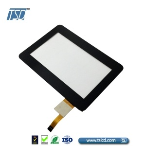 500cd/m2 4.3'' tft lcd with cover lens touch