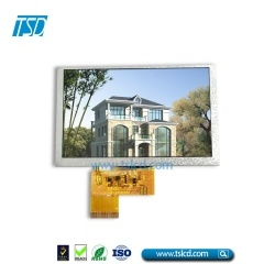 WGVGA 4.3 inch lcd display 500nits