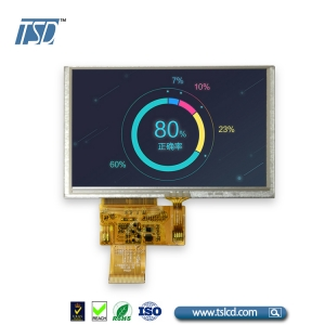 5 inch tft lcd display with Resistive touch panel
